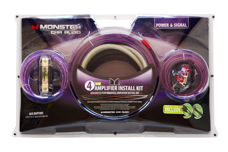mca baip500s 4 awg amplifier install kit monster car audio rh monstercaraudio jp